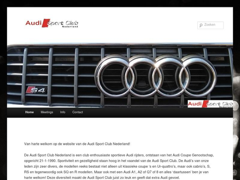 Screenshot von http://www.audisportclub.nl/index.php/