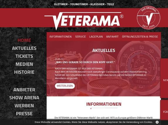 Screenshot von http://www.veterama.de/de/home